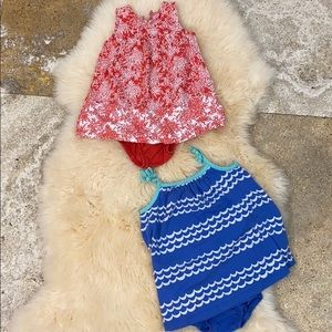 Baby gap play dresses with bloomers 6-12 months